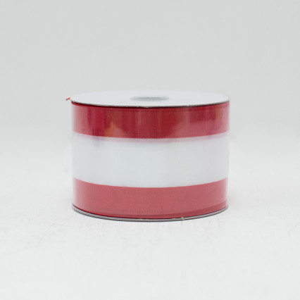 Red & White Striped Ribbon - #40