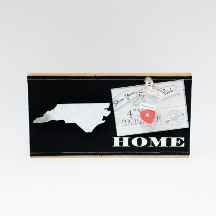 North Carolina Photo Frame With Heart Magnet