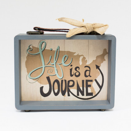 Journey Suitcase Sign