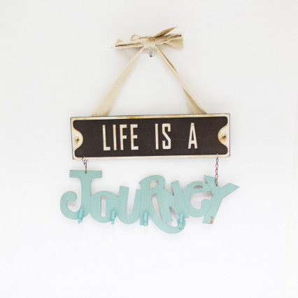 Life's a Journey Photo Clip Sign