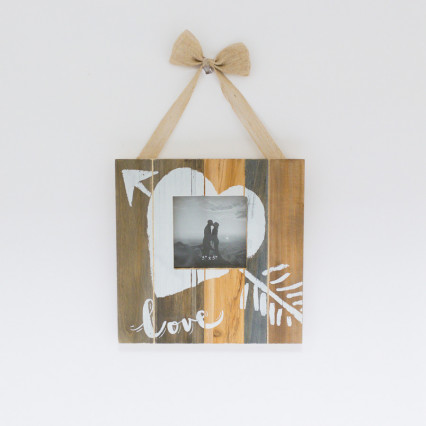 Wood 5 x 5 Love Picture Frame