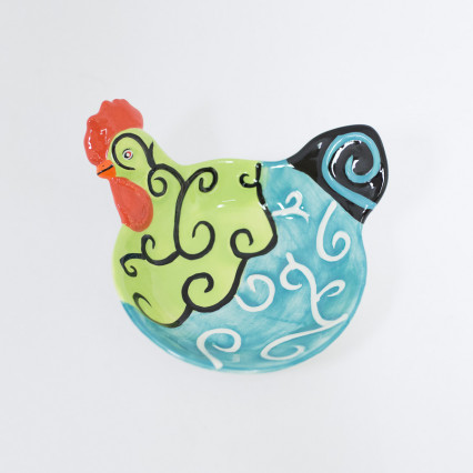 Rooster Appetizer Bowl - Green