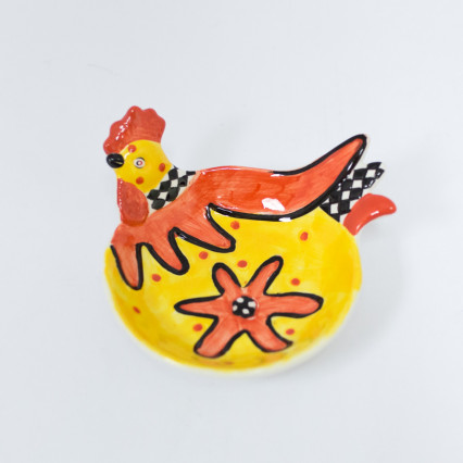 Rooster Appetizer Bowl - Yellow