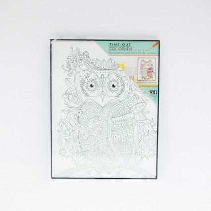 Coloring Print with Frame - Owl