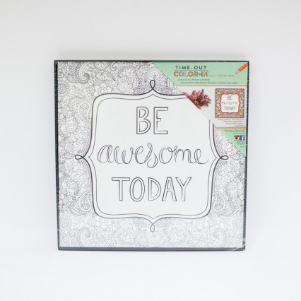 Coloring Print with Frame - Be Awesome
