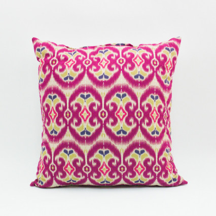 Ikat Pillow - Aztec Pinks