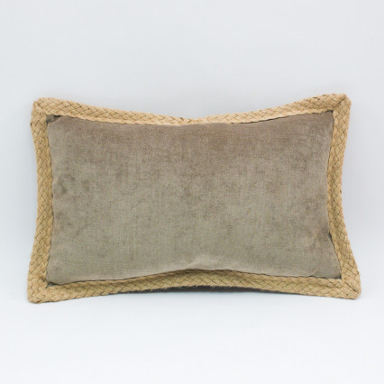 Glitz Lumbar Pillow - Doeskin