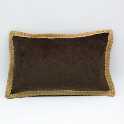 Glitz Lumbar Pillow - Coffee
