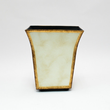 Metal Planter - Cream