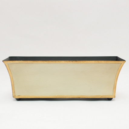 Long Metal Planter - Cream
