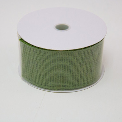 2 1/2 in. (#40) Moss Burlap Ribbon