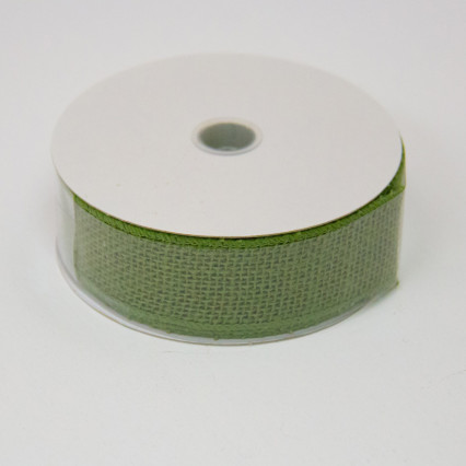 1 1/2 in. (#9) Moss Burlap Ribbon