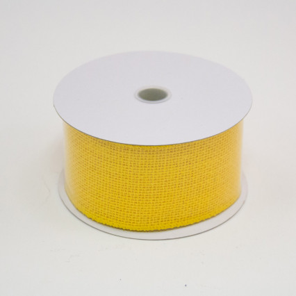 2 1/2 in. (#40) Daffodil Burlap Ribbon