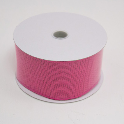2 1/2 in. (#40) Fuchsia Burlap Ribbon