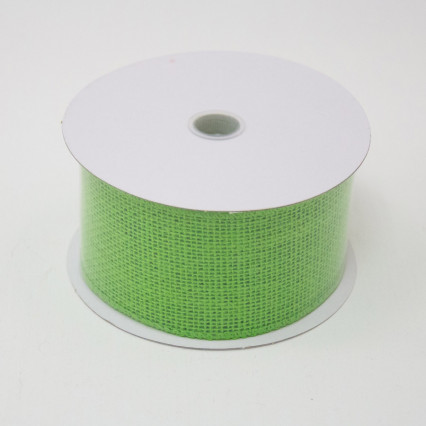 2 1/2 in. (#40) Lime Burlap Ribbon