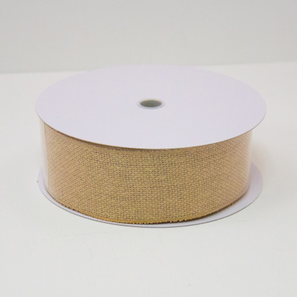 2 1/2 in. (#40) Natural Faux Burlap Ribbon