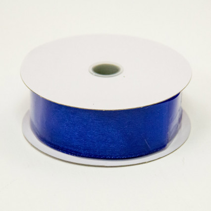 1 1/2 in. (#9) Royal Wired Edge Sheer Ribbon