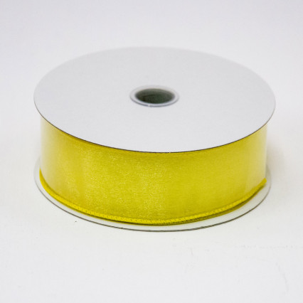 1 1/2 in. (#9) Daffodil Wired Edge Sheer Ribbon