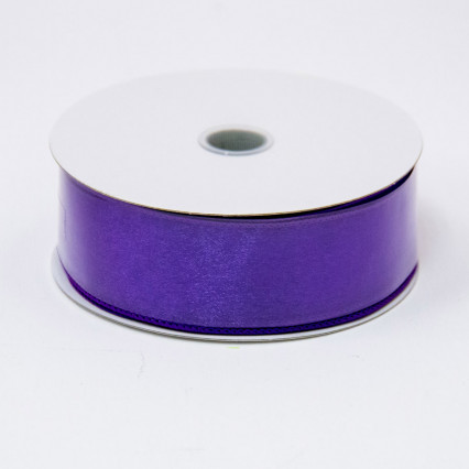 1 1/2 in. (#9) Purple Wired Edge Sheer Ribbon