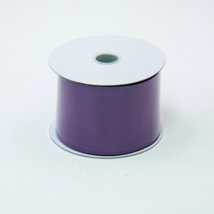 2 1/2 in. (#40) Eggplant Wired Edge Satin Ribbon