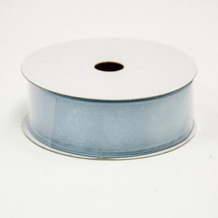 1 1/2 in. (#9) Blue Wired Edge Sheer Ribbon