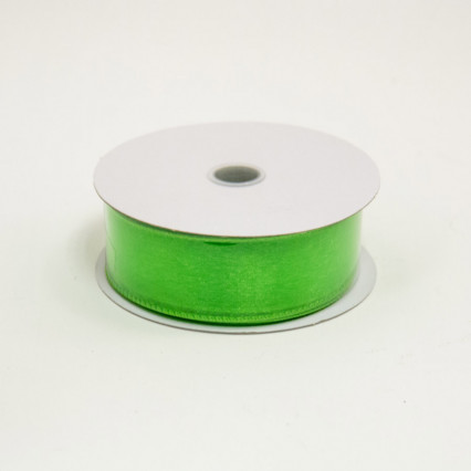 1 1/2 in. (#9) Lime Wired Edge Sheer Ribbon