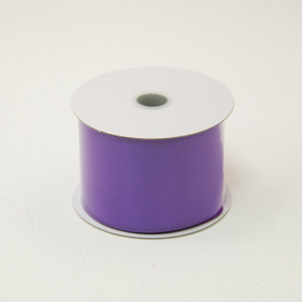 2 1/2 in. (#40) Purple Wired Edge Satin Ribbon