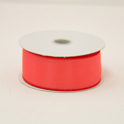 1 1/2 in. (#9) Melon Wired Edge Satin Ribbon