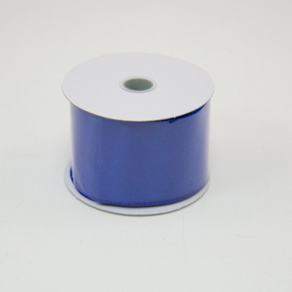 2 1/2 in. (#40) Royal Blue Wired Edge Satin Ribbon