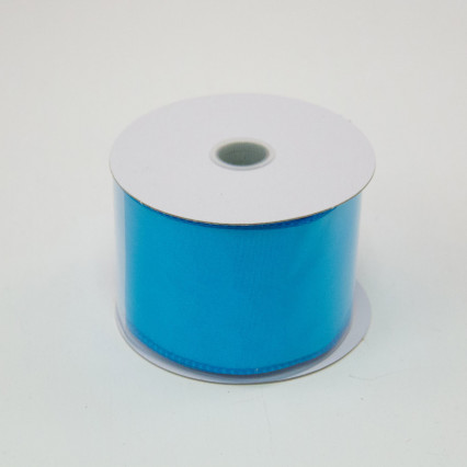 2 1/2 in. (#40) Turquoise Wired Edge Satin Ribbon