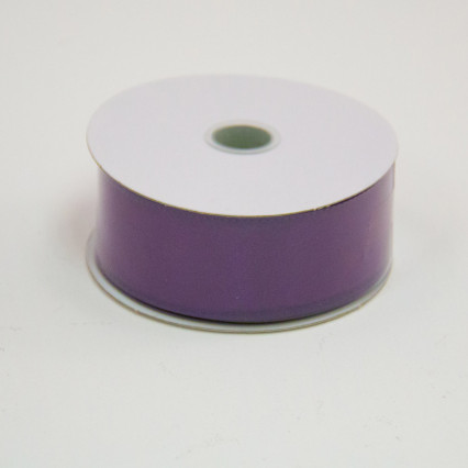 1 1/2 in. (#9) Eggplant Wired Edge Satin Ribbon