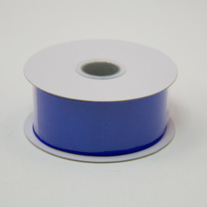 1 1/2 in. (#9) Royal Blue Wired Edge Satin Ribbon