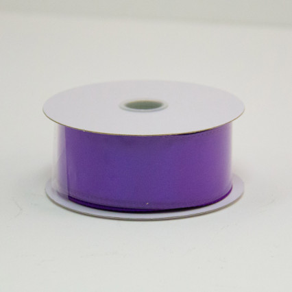 1 1/2 in. (#9) Purple Wired Edge Satin Ribbon