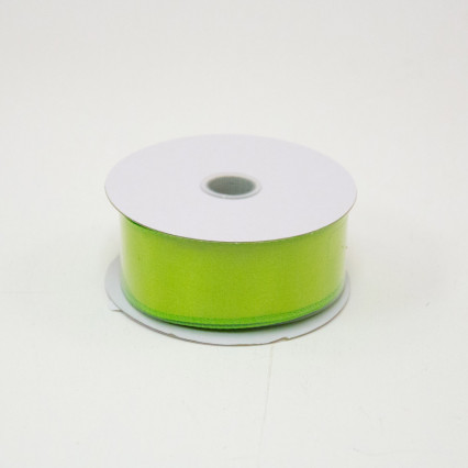 1 1/2 in. (#9) Lime Wired Edge Satin Ribbon