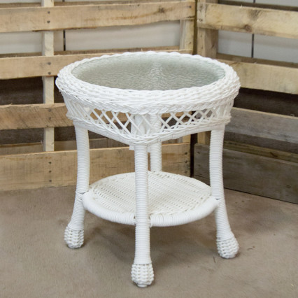 Aruba White End Table