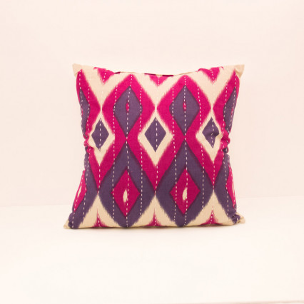 Ikat Pillow - Diamond Pinks