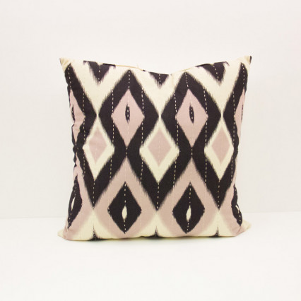 Ikat Pillow - Diamond Grays