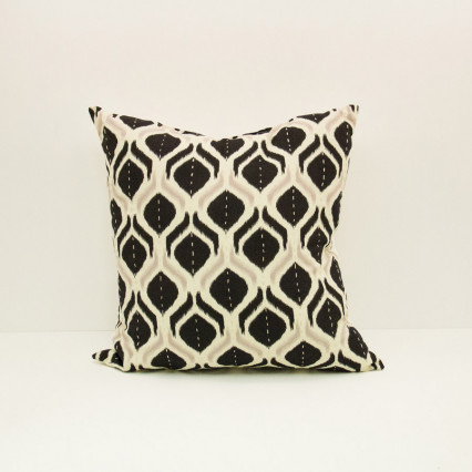 Ikat Pillow - Flame Grays