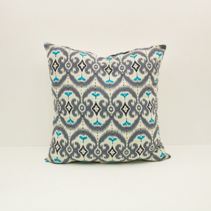 Ikat Pillow - Aztec Blues