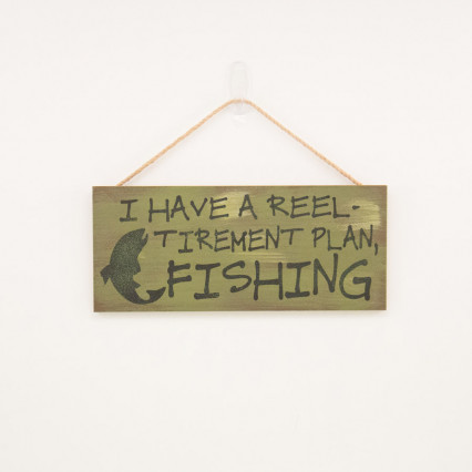 Reel-Tirement Wall Sign