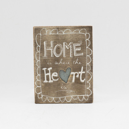 Home Wood Box Sign