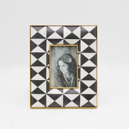 Faux Leather Photo Frame - 3x5