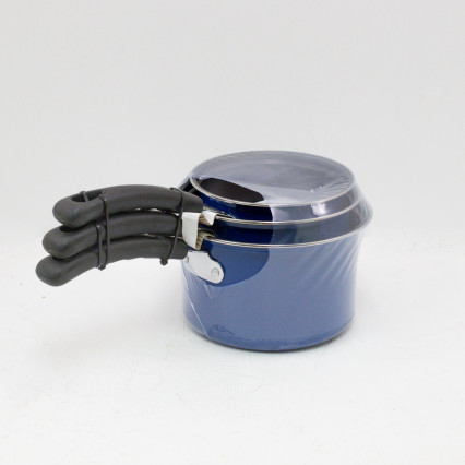 Set of 3 Saucepans - Blue