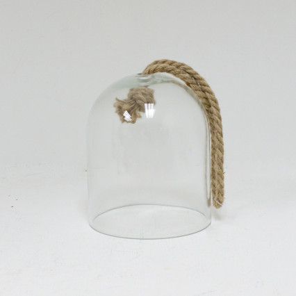 Glass Cloche with Rope - Small