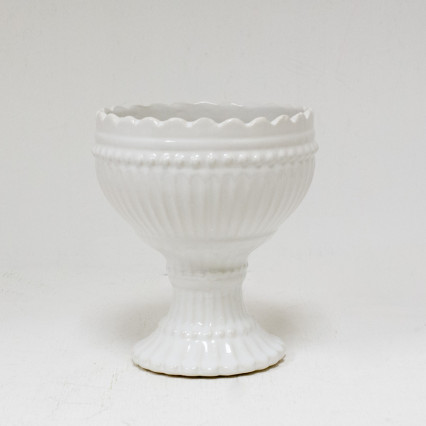 White Ceramic Vase/Planter