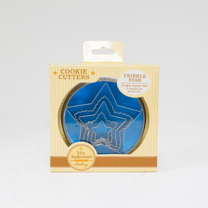 Set of 5 - Crinkle Star Cookie Cutters