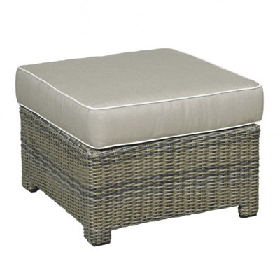 NorthCape NC275O Bainbridge Resin Wicker Outdoor Ottoman