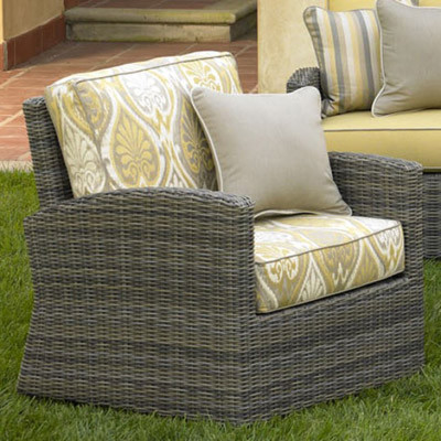 NorthCape NC275SG Bainbridge Resin Wicker Swivel Glider Chair