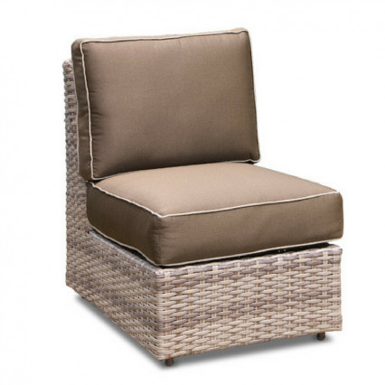 Biscayne Armless Chair - Fieldstone