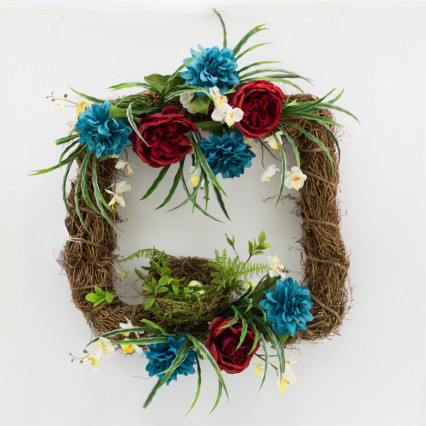 Bird's Nest Grapevine Wreath